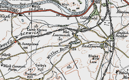 Old map of Willow Burn in 1926