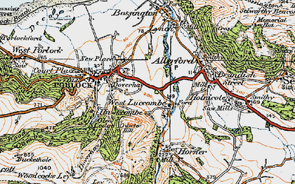 Old map of West Luccombe in 1919