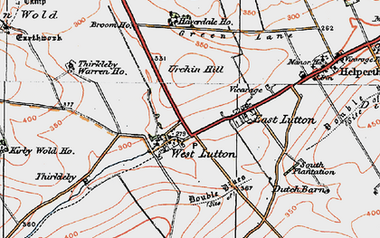 Old map of Whin Moor in 1924