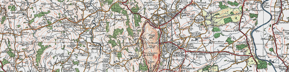Old map of West Malvern in 1920