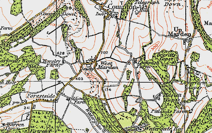 Old map of Watergate Hanger in 1919