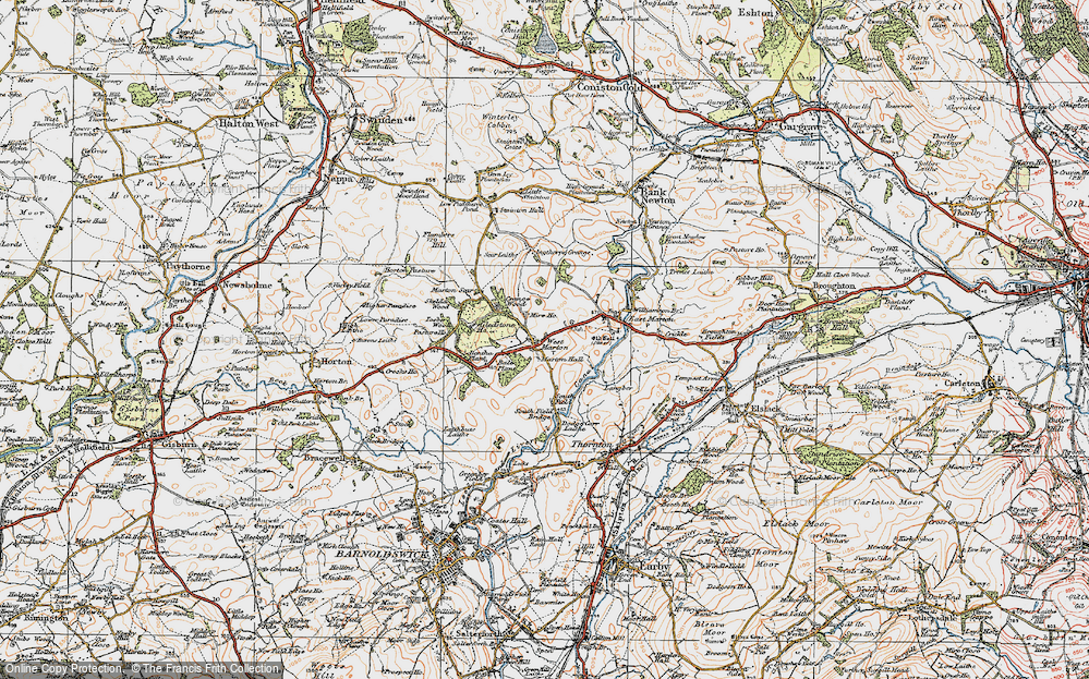 Old Map of Historic Map covering Bale New Plantn in 1924