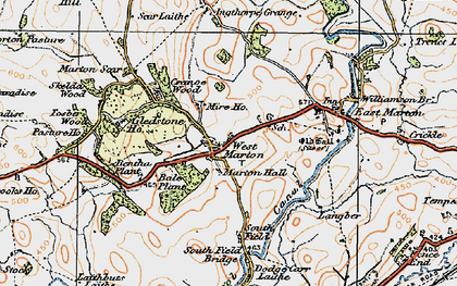 Old map of Bale New Plantn in 1924