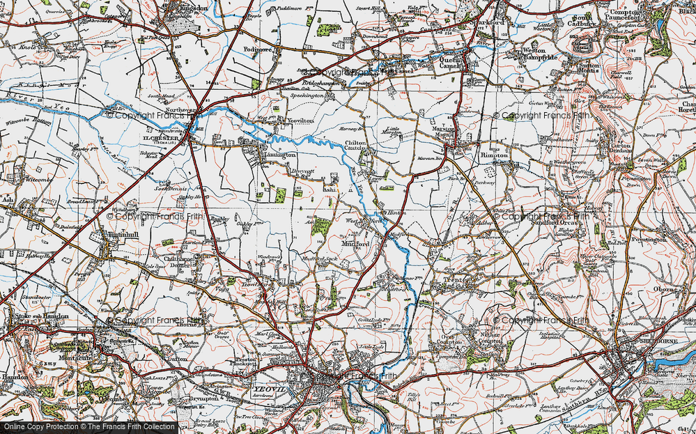 Old Map of Historic Map covering Ashington Wood in 1919