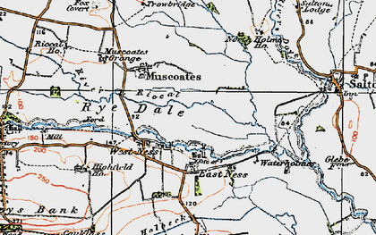 Old map of West Ness in 1925