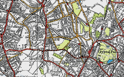 Old map of West Norwood in 1920