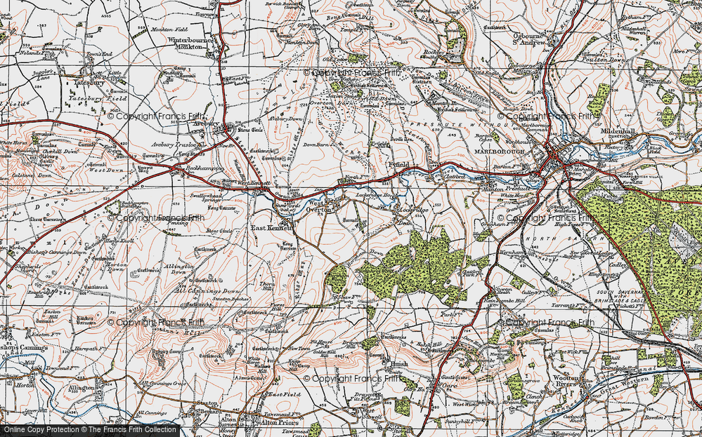 Old Map of West Overton, 1919 in 1919