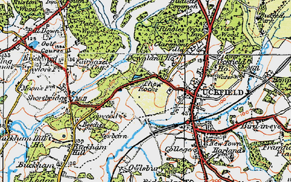 Old map of West Park in 1920