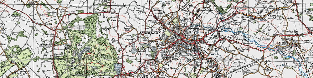 Old map of West Park in 1923