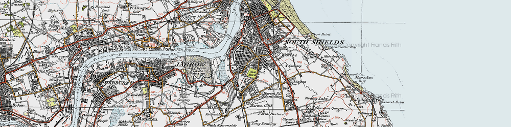 Old map of West Park in 1925