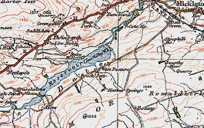 Old map of West Pasture in 1925