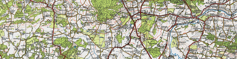 Old map of West Peckham in 1920