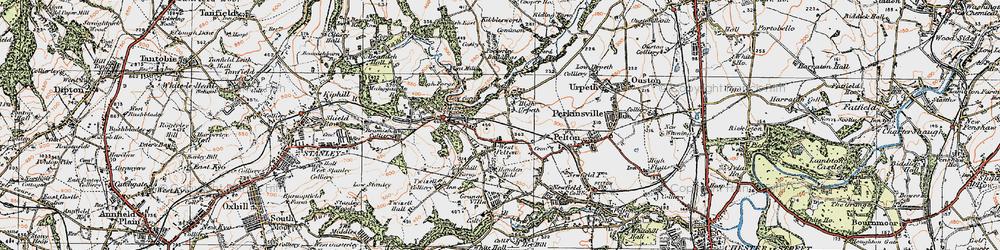 Old map of West Pelton in 1925