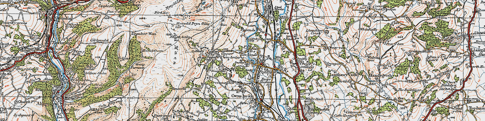 Old map of West Pontnewydd in 1919