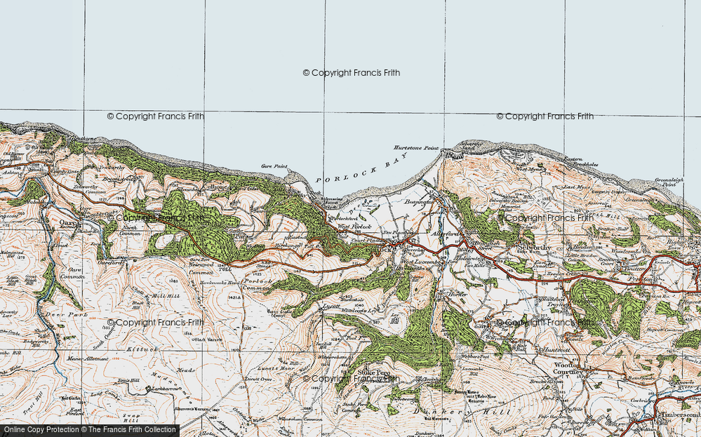 Old Map of West Porlock, 1919 in 1919