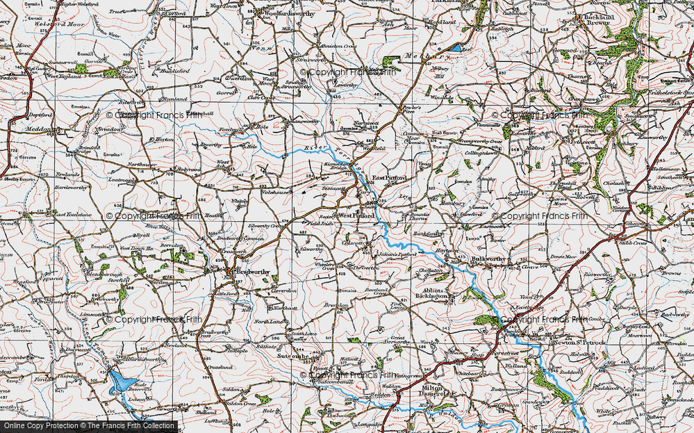 Old Map of West Putford, 1919 in 1919