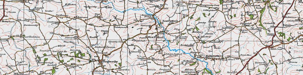 Old map of West Putford in 1919