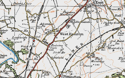 Old map of West Rainton in 1925
