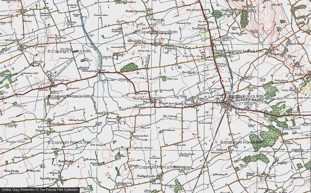 Old Map of West Rasen, 1923 in 1923