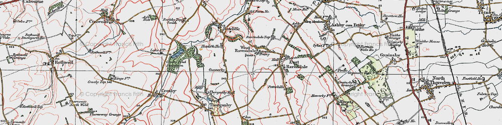Old map of West Ravendale in 1923