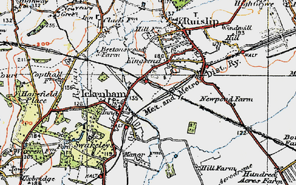 Old map of West Ruislip in 1920