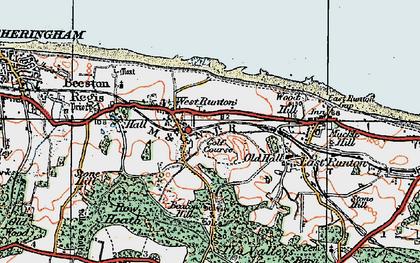 Old map of West Runton in 1922