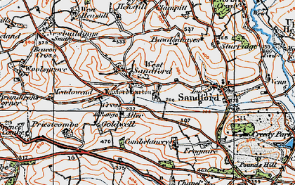 Old map of West Sandford in 1919