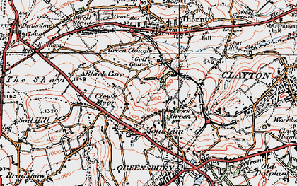 Old map of West Scholes in 1925