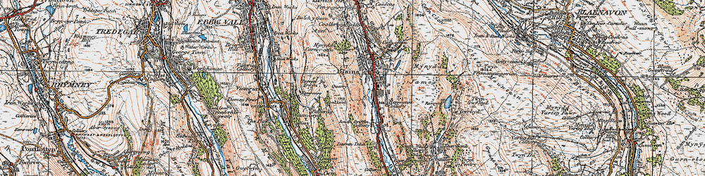 Old map of West Side in 1919