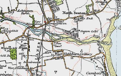 Old map of West Sleekburn in 1925