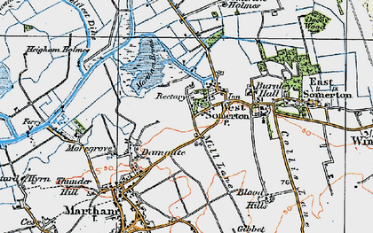 Old map of West Somerton in 1922