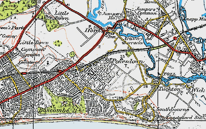 Old map of West Southbourne in 1919