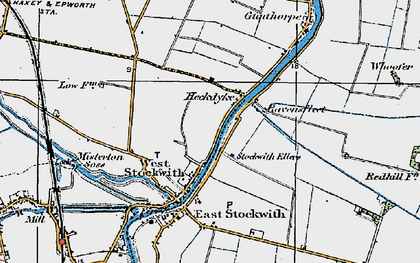 Old map of West Stockwith in 1923