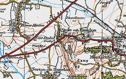 Old map of West Stoke in 1919