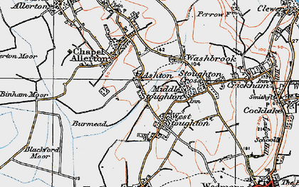 Old map of West Stoughton in 1919