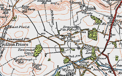 Old map of West Stowell in 1919