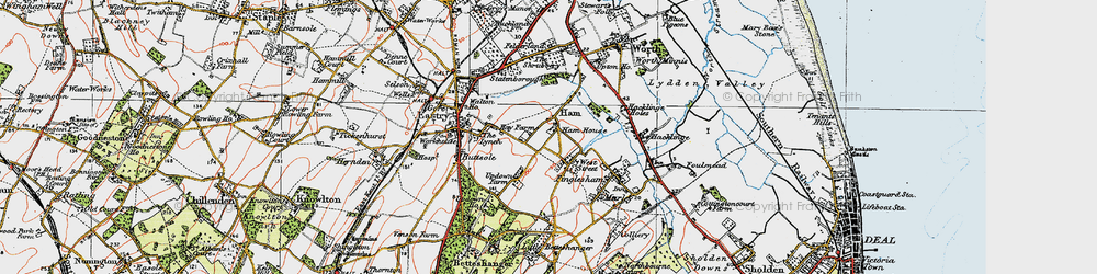 Old map of West Street in 1920
