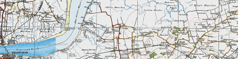 Old map of West Street in 1921