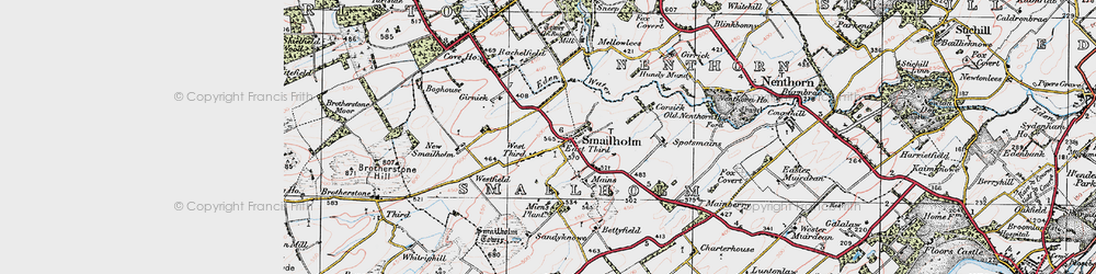 Old map of West Third in 1926