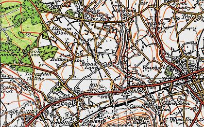 Old map of West Tolgus in 1919