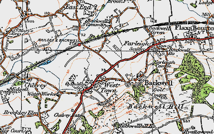 Old map of Backwell Hill in 1919