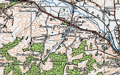Old map of West Town in 1919
