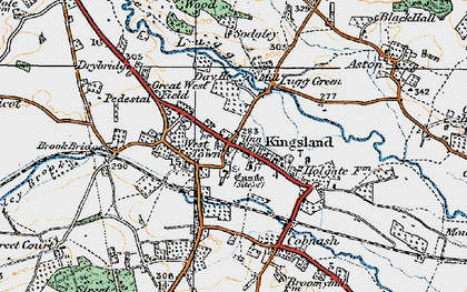 Old map of West Town in 1920