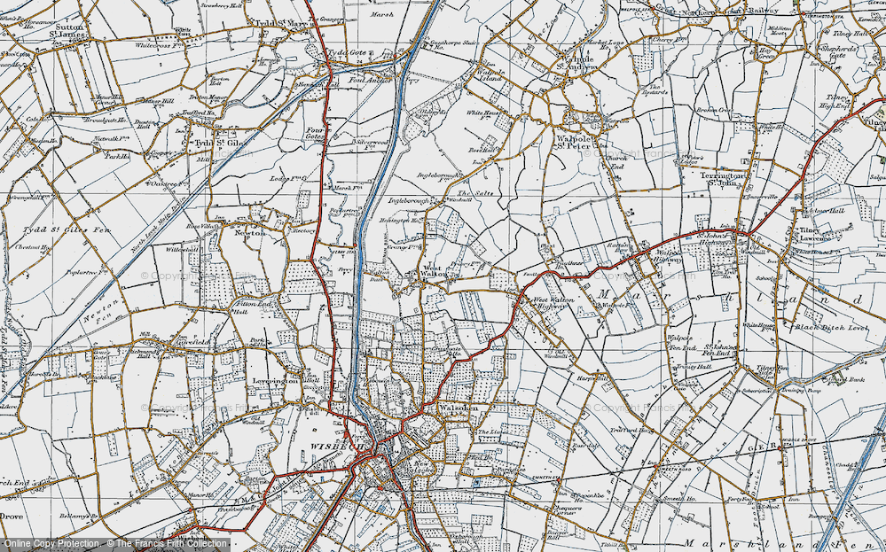 Old Map of West Walton, 1922 in 1922