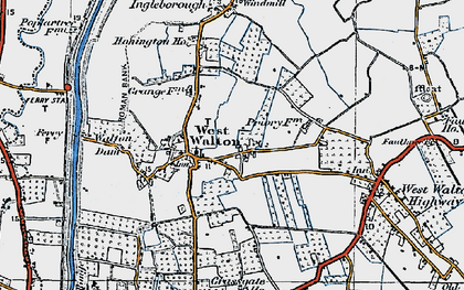 Old map of West Walton in 1922