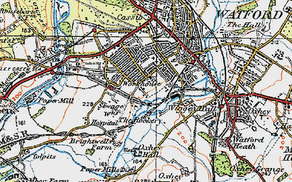 Old map of West Watford in 1920
