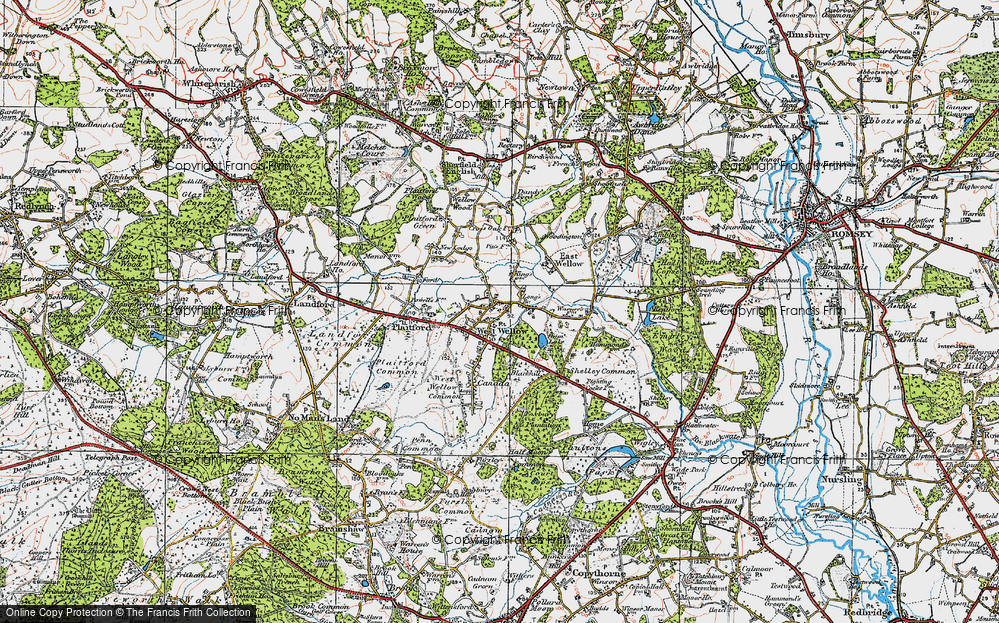 Old Map of West Wellow, 1919 in 1919