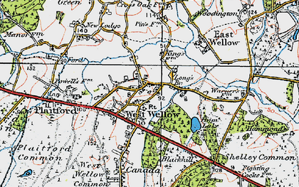 Old map of West Wellow in 1919
