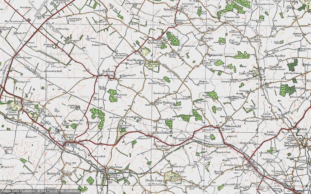 Old Map of West Wickham, 1920 in 1920