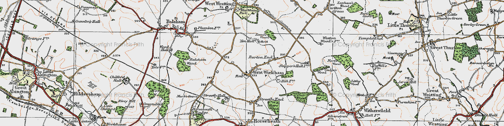Old map of West Wickham in 1920